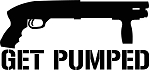 Get Pumped Shotgun Sticker